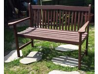 Wooden garden bench, 122cm long (4 feet), can be delivered