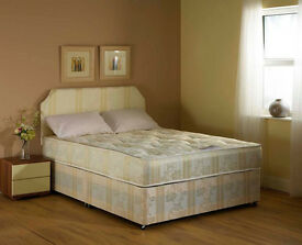 **EXCLUSIVE**DOUBLE CROWN FULL ORTHOPAEDIC DIVAN BED AND MATTRESS - BRAND NEW - EXPRESS DELIVERY