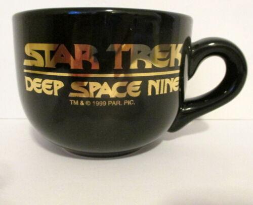 VTG 1999 PARAMOUNT PICTURES STAR TREK DEEP SPACE NINE LARGE BLACK/GOLD MUG CUP