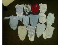 Baby boy 0-3 months body vests