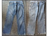 Two pairs of Wrangler Texas blue denim jeans W34 L30