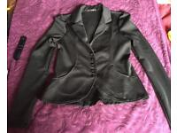Stunning Quiz black fitted jacket / blazer top size 14 like New