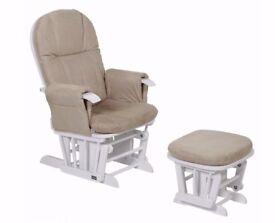 Tutti Bambini Deluxe Glider/ Nursing Chair and stool