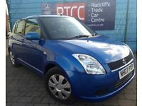 2007 Suzuki Swift 1.3 GL 5dr Hatchback, Previous Lady Owner, 3 MONTHS AU WARRANTY, £1,495 ONO