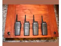 Motorola dp1400 UHF, Black , Analogue/ Digital Radio , Handheld Two way Radio X4