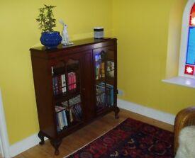 Walnut Bookcase Display Case
