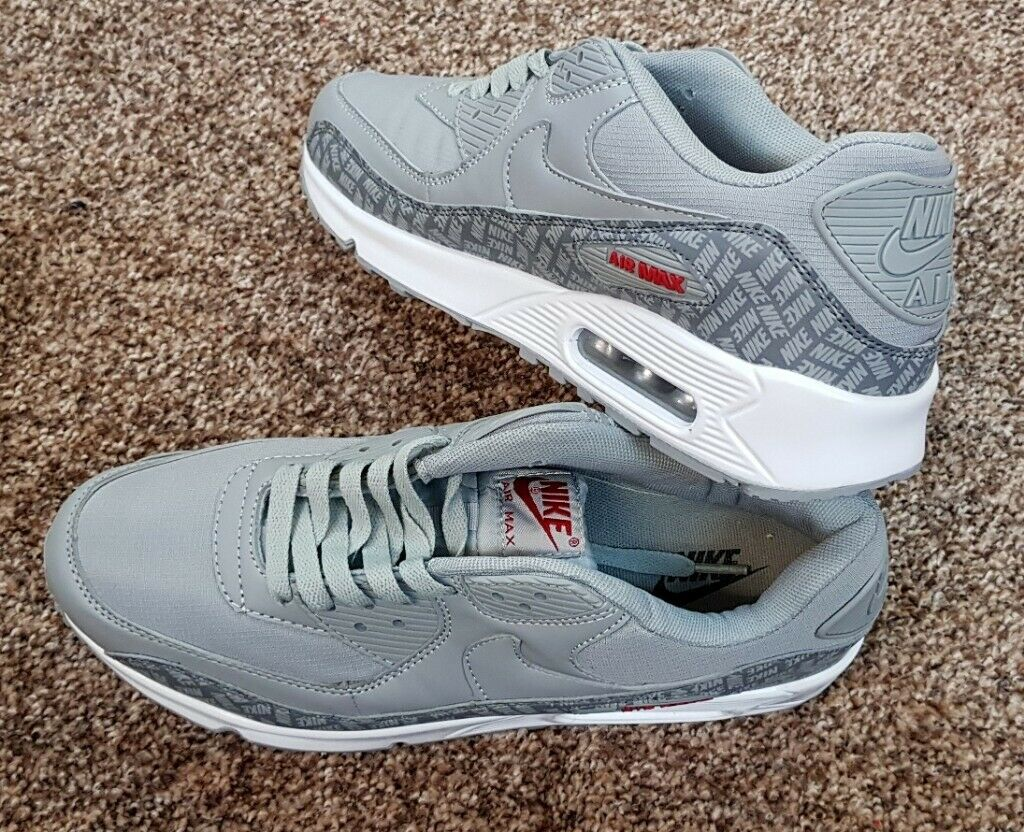 NIKE AIR MAX 90 SE PREMIUM ESSENTIAL RIPSTOP GREY RED WHITE MEN'S TRAINERS BRAND NEW BOXED 6 11 | in Huddersfield, West Yorkshire | Gumtree