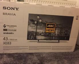 Sony Bravia ultra HD 4K TV (new and in box)