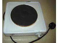 Salton single cooker plate ideal student caravan etc 1500w