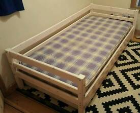 Single Bed With Pull Out Guest Bed and mattresses