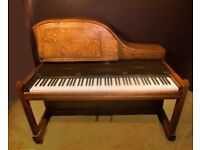 Morley upright piano for sale, Art Deco solid oak case, 88 keys, all works。Priced for quick sale.