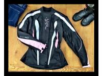 MBSMOTO Ladies Textile Waterproof Armoured Motorcycle / Scooter Jacket XL (14 to 16)
