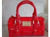 Used once a really lovely bright red patent bag by French Frost - Floozie with detachable strap