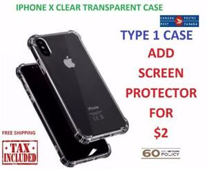 IPHONE X CLEAR CASE COVER HYBRID BUMPER PROTECTION