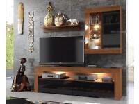 Set of 4 - TV unit, tall unit, wall unit and shelf