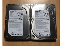 Formatted 2x 500gb SATA hard drives in very good condition and without errors £25