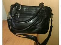 Large black GIGI PVC handbag