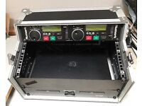 NUMARK CDN 22 MKIII PRO CD DECKS DJ- DUEL/TWIN -CD PLAYER & REMOTE-LEADS COMPLETE WITH FLIGHT CASE