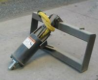 New Wildkat Hyd Skid Steer Auger Attachment