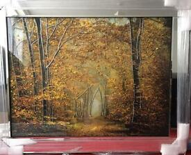 New out liquid art mirror framed pictures