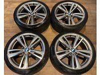 19'' GENUINE BMW 4 SERIES M SPORT 3 F30 E31 F32 F33 F36 442 ALLOY WHEELS TYRES ALLOYS 5X120