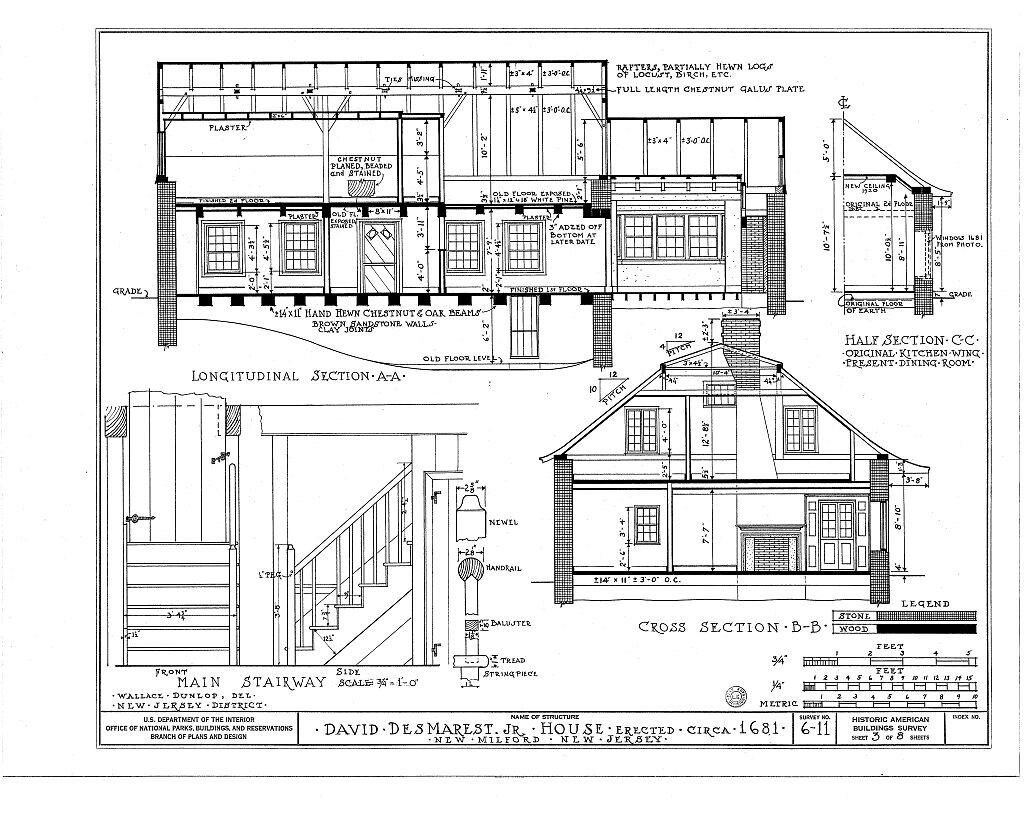 Gambrel roofed dutch colonial farmbouse architectural for Dutch gambrel house plans