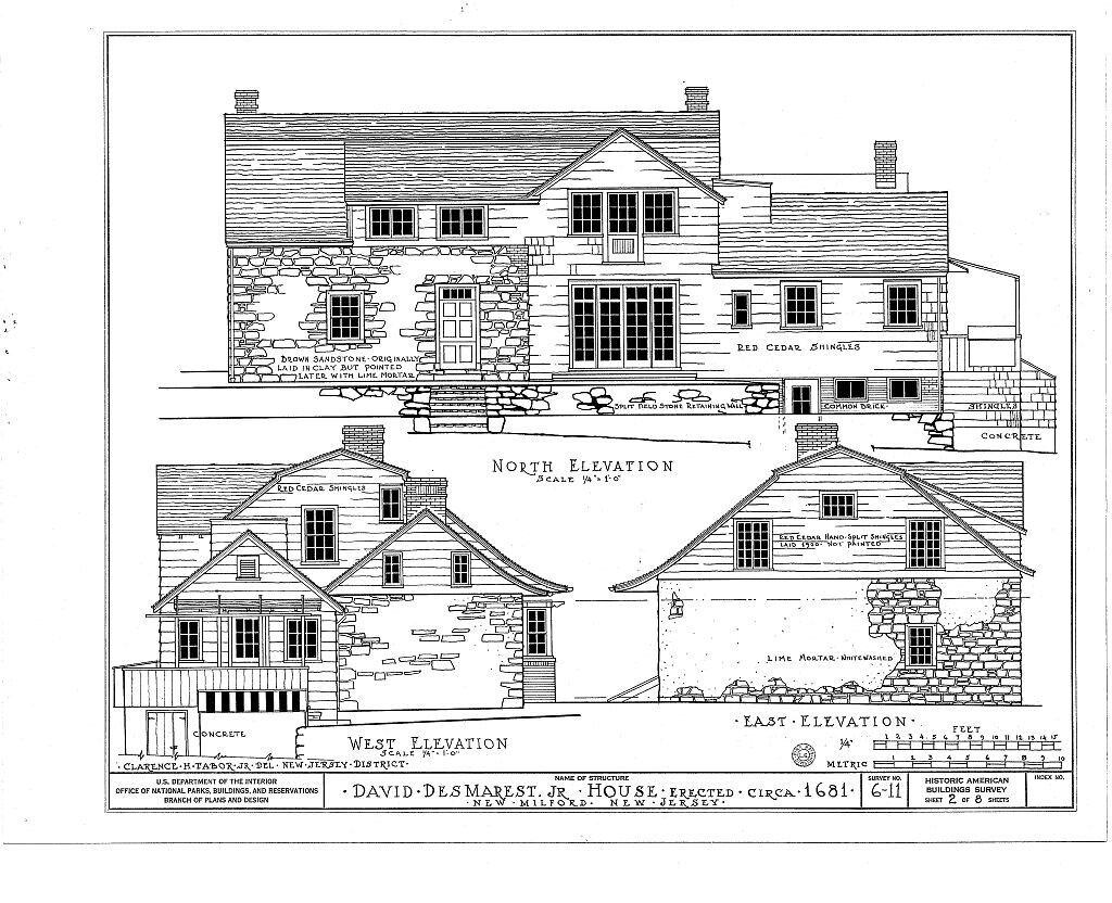 Gambrel Roofed Dutch Colonial Farmbouse Architectural