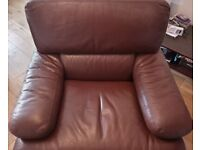 Beautiful 25 - 30 year old armchair with the finest leather