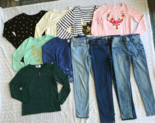 LOT of Girls Clothes-Jeans & Tops-Justice GAP Old Navy (Size 14  14 Slim  14/16)