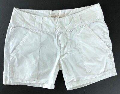 O'Neill Womens Shorts Cotton White Summer Size