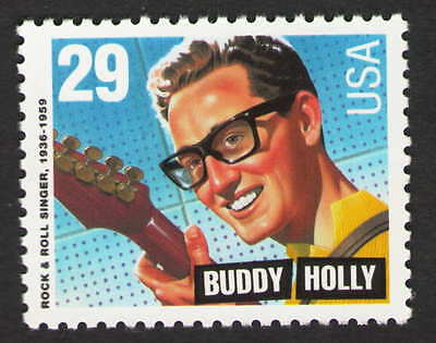 US. 2729. BUDDY HOLLY. AMERICAN SINGER.  MINT. NH