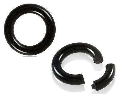 - PAIR Black Acrylic Segment Rings Captive Bead CBR's Lightweight Body Jewelry