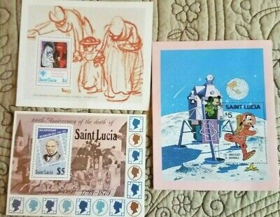 St Lucia:Goofy on Moon; Inter, Year of the Child; 100th Anniver.-Sir R.Hill '79