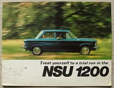 NSU 1200 C Car Sales Brochure 1969-70 #VF 2119 610 10825.