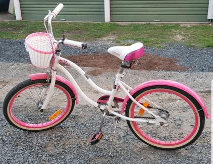 Girls Pink Retro Bike