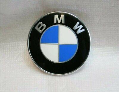 FREE 1st class *NEW* BMW 82mm BONNET BADGE E46 E36 E39 E90 E60 E61 E91 X5 3 5