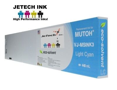 Mutoh Vj-msink3 Eco Solvent Compatible 440ml Ink Cartridges - Light Cyan