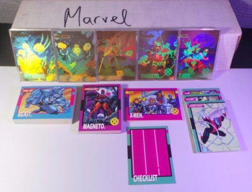 1992 IMPEL MARVEL UNIVERSE SERIES - 100 CARD COMPLETE SET + 5 Bonus Cards NM/MT