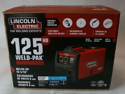 Lincoln Electric Wire-feed Welder 125hd Weld Pak Portable Lightweight 120 Volt