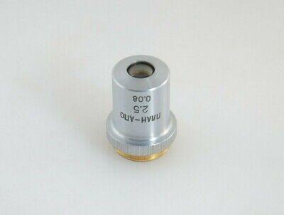 Lomo Plan-apo 25 X 008 Objective For Microscope