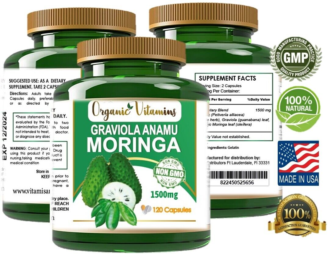 Moringa Oleifera Organic, Natural, 100% Pure Pills - 120 Count - 1 Pack  5