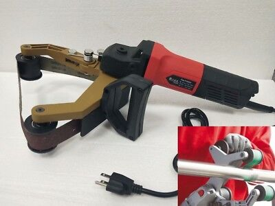Tube Belt Sander Stainless Steel Pipe Polisher Around Pipe Electric Sanding Tool