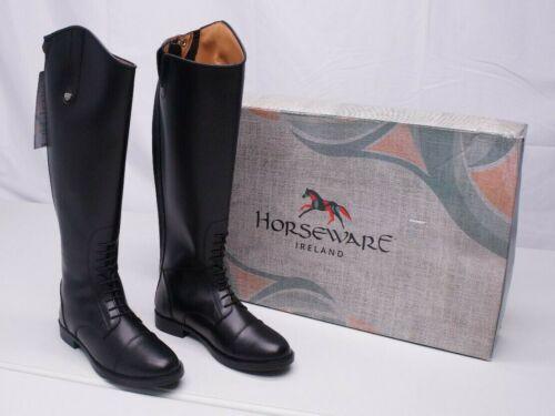 Horseware Ireland Ladies 8M (Narrow Fit) Leather Long Riding Boot Elastic Panel