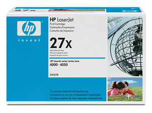 HP C4127X 27X Genuine Black Toner Cartridge SEALED BOX