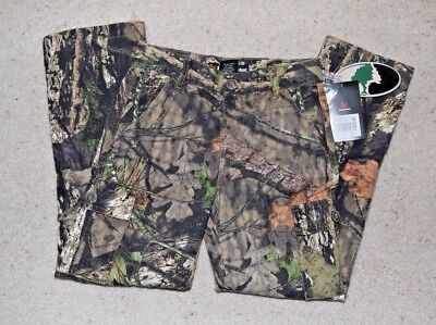 Buckmaster Hunting Youth 6 Pocket Mossy Oak Camo Cargo Pants Boys Medium 8/10  ()