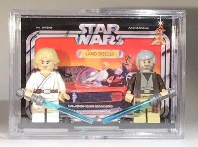 Star Wars 2pack Custom Luke Ob1 Mini Action Figures wCase &Stands267 Mini-Figure 1 Mini Action Figures