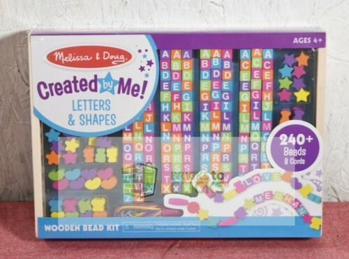 Melissa & Doug Created By Me Letters And Shapes Wooden Bead Kit