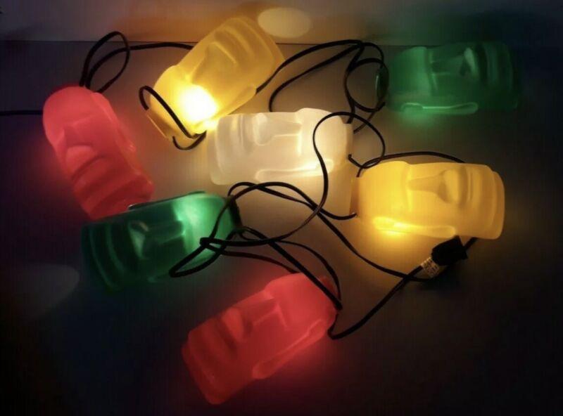 Tiki String Lights Patio MOAI Pool Party Blowmold Easter Island RV Camping 7