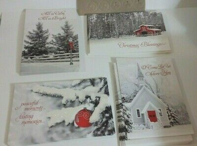 Dayspring Christian Connections 39 Christmas card/env sets 4 scenes & Scrip ()