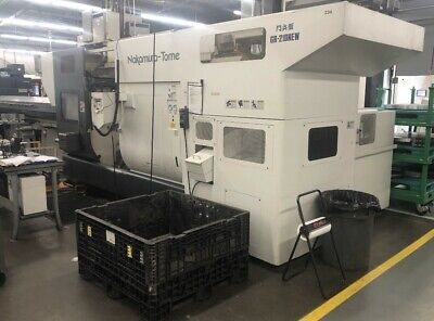 2008 Nakamura-tome Wt-300mmyg Gantry Loaded Twin Turret Twin Spindle Cnc Lathe